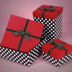 Adorable red and black polka dot box filled with assorted chocolates.  Perfect for any occasion.