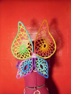 Rainbow Crochet Wings by NooMMooN on Etsy, $70.00