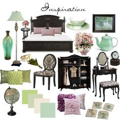 Summerhouse, created by #corviform on #polyvore. interior design