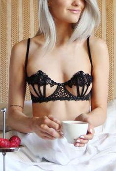 lacy black bra