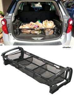 Great gift idea for under$50! This adjustable-width trunk organizer from Hopkins can accommodate your groceries, plants or various outdoor and sports gear with three netted dividers to keep everything in its place. When you are not using it, the compartments fold back to allow space for other cargo.