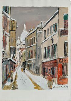 Maurice Utrillo (1883 - 1955) The Village Inspiration, 1950