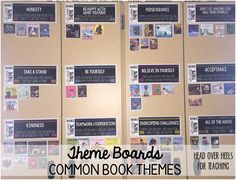 Theme Boards-Perfect way to keep track of all your reading all year long!