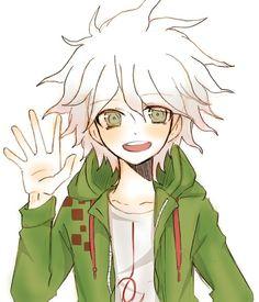 He's sooooo cute, but still soo crazy Anime One, I Love Anime, Saga, Super Danganronpa, Nagito Komaeda, Danganronpa Characters, Hinata, Cute, Fan Art