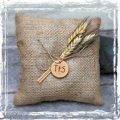 Wheat And Burlap Ring Bearers Pillow  Rustic by sparkleandposy, $18.00