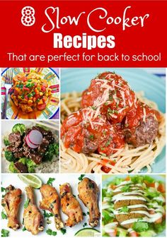 8 Slow Cooker Recipes That Are Perfect for Back to School via @flavormosaic