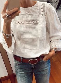 Womens Fashion Online, Latest Fashion For Women, Indian Sarees, Smart Casual, Saree Blouse, Blouse Designs, Bohemian Style, Smocking, Blue Jeans