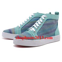 Chaussure Louboutin Pas Cher Pompe Very Mix Sneakers Multicolor, Blue Sneakers, Sneakers Women, Christian Louboutin Sale, Sneaker Dress Shoes, Sheepskin Ugg Boots, Cl Shoes, Red Bottom Shoes, Womens Fashion Sneakers