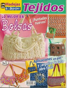 Arts and craft books: more ideas and patterns for handbags, crochet and knitting magazine Tejidos bolsas Crochet Books, Knit Crochet, Crochet Hats, Crochet Clutch, Crochet Purses, Knitting Magazine, Crochet Magazine, Boxes And Bows, Diy Bags Purses