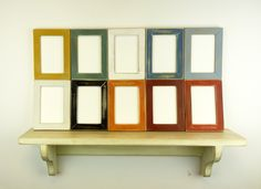 Milk Paint Picture Frames --  Photo Frames