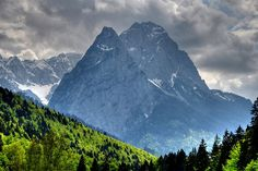 Zugspitze, tallest peak in the Bavarian Alps We have hiked it twice. The view from the top is incredible!