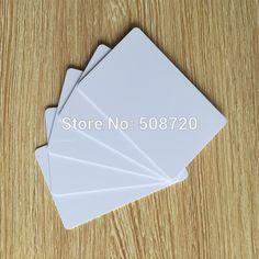 10 sztuk/partia niezapisywalny przepisz puste białe karty RFID 125 KHZ Em4305 karty