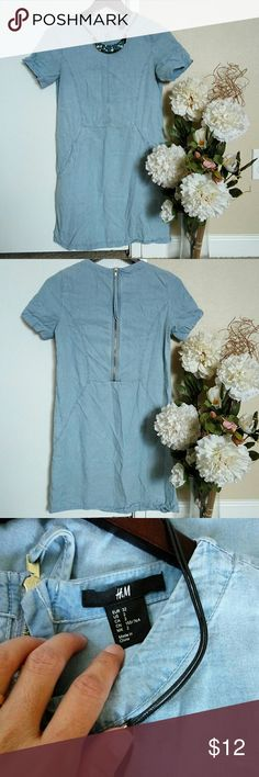 H&M casual dress 👗 Perfect for summer and casual occasion. Made from 💯 lyocell fabrics. H&M Dresses Mini