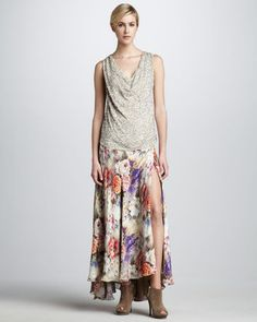 Haute Hippie - Floral Print Maxi Skirt - $565.00 - Click on the image to shop now.