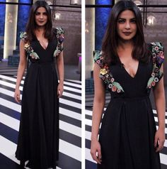 Priyanka Chopra in black dress