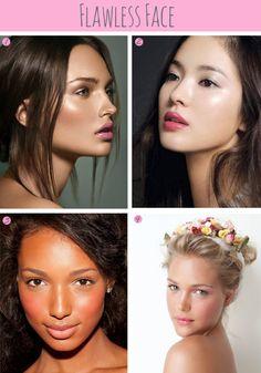 Flawless face makeup...