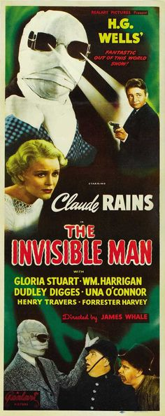 The Invisible Man 14x36 Movie Poster (1933)