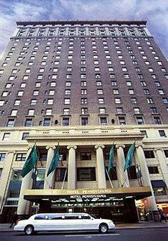 Hotel Pennsylvania New York.  Stayed there.  Glenn Miller's band called it home way back when.