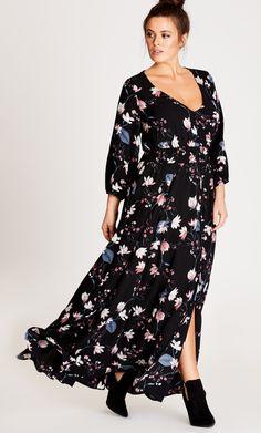 Plus Size Floral Maxi Dress Plus Size Fashion Pinterest