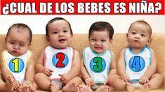 Test psicológico: Adivina quién de los 4 bebés es una niña - Porque no se me ocurrió antes
