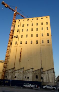 Grain elevator at V&A Waterfront in Cape Town used to be SA's tallest building.
