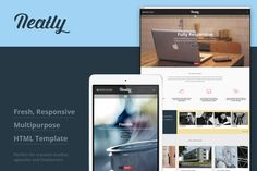 Check out Neatly - Responsive HTML Template by George Badea on Creative Market