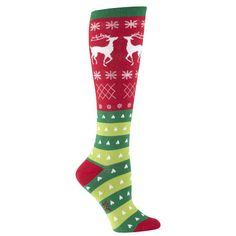 I need these in my life for the Jingle Bell Run! This site has lots of fun knee high socks that will be awesome for themed runs!