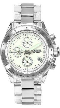 #Fossil #Watch , Men's CH2681 Decker Stainless Steel Bracelet Silver Dial Watch
