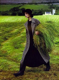 """""""The Velvet Touch"""", Vogue US, September 1993  Photographer : Arthur Elgort  Model : Nadja Auermann"""