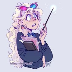 "tinymintywolf: "" ✨ luna lovegood ✨ ive been wanting to draw her for a while, im glad i had a chance during the last stream! Fanart Harry Potter, Harry Potter 3, Magia Harry Potter, Harry Potter Sketch, Harry Potter Drawings, Harry Potter Pictures, Harry Potter Wallpaper, Harry Potter Characters, Luna Lovegood"