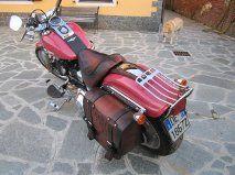 Sella e borsa per Softail - Bag and leather saddle for Softail
