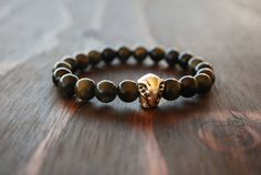 Men's Obsidian Bracelet. Men's Elephant Bracelet. Beaded Bracelet for Men. Men's Yoga Bracelet. Mala Bracelet for Men. Lotus & Lava Bracelet