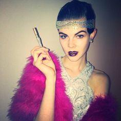 http://en.lady-vishenka.com/modeli-v-kostyumah-na-hellouin/  1. 14 Models Halloween costume ideas