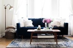 10 Easy Pieces: Navy is the New Black — Apartment Therapy Marketplace--like this rug