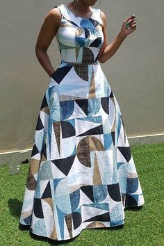 Looking for Women's Off Shoulder Round Collar Printed Maxi Dress? Fancywe offers lots of Maxi Dresses in different styles, colors and materials. Dress your own style with Women's Off Shoulder Round Collar Printed Maxi Dress Latest African Fashion Dresses, African Dresses For Women, African Print Fashion, African Attire, Maxi Robes, Cheap Dresses, Dress Outfits, Work Outfits, Dress Shoes