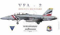 VFA-2 Bounty Hunters F/A-18F Super Hornet
