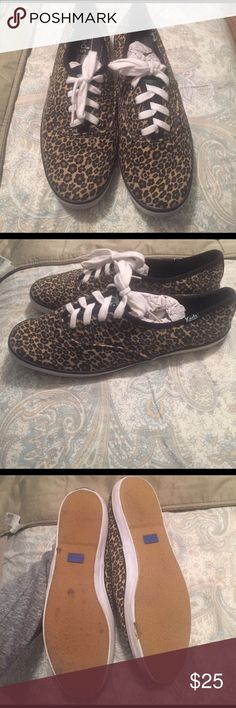Cheetah Ked Sneakers Cheetah print Ked Sneakers. Sole in excellent condition. Size 7.5 Keds Shoes Sneakers