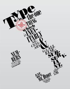 type only poster - Google Search
