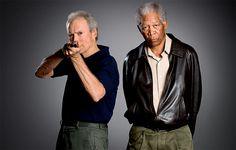 Clint Eastwood & Morgan Freeman...Looveee Gran Torino