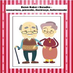 Archiwa: Do pobrania - Pani Monia Grandparents Day, Family Guy, Cartoon, Education, Children, School, Happy, Cards, Diy