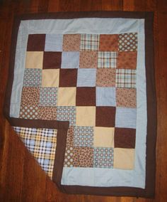 Baby boy quilt Made by Heather Miller of Laundry Room Quilts