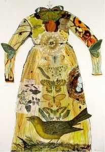 Great idea for collage papers, or old watercolor paintings. By Janet Taylor Pickett