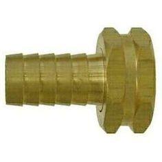 30044 | Midland | 1 HB X 3/4 FGH ADAPTER | Brass Fittings | Garden Hose | Female Swivel Only