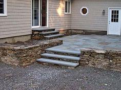 custom ideas for traditional raised flagstone patio exterior ... - Raised Concrete Patio Ideas