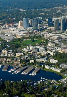 Aerial View of Downtown Bellevue.