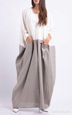 Abaya Fashion, Fashion Dresses, Iranian Women Fashion, Womens Fashion, Long Vests, Hijab Dress, Abayas, Dress Me Up, Needlework