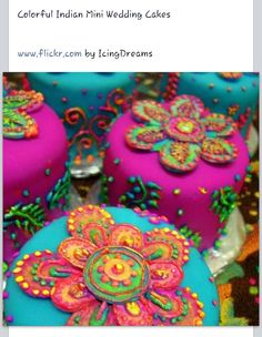 Indian mini wedding cakes