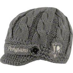 Pittsburgh Penguins Women's Grey '47 Brand Skybox Visor Knit Hat $25.99 www.fansedge.com/...