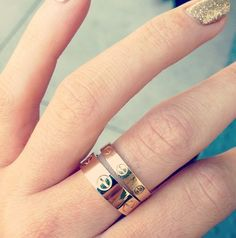 Cartier skinny'Love' rings .... Want in my life now. Stunning.