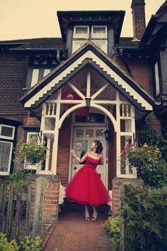 rockin' a red wedding dress #rocknrollbride #assassynation